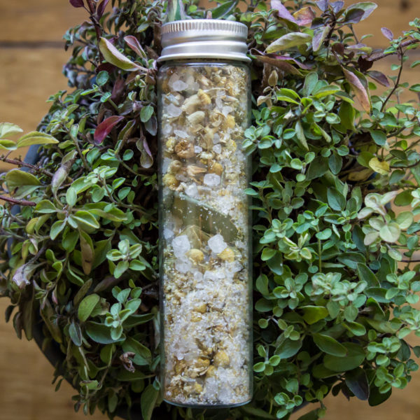 Chamomile and lavender bath soak