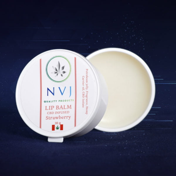 NVJ CBD Strawberry Flavoured Lip Balm - 30g